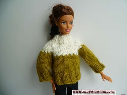 свитер для барби спицами