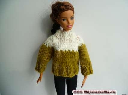 свитер для кукол барби