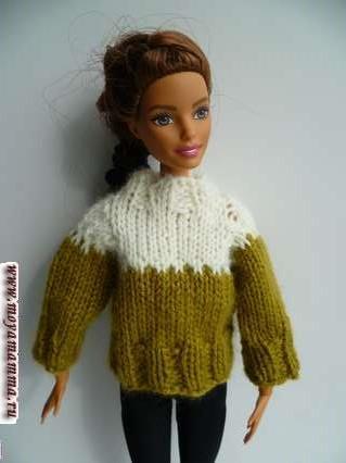 свитер для куклы барби