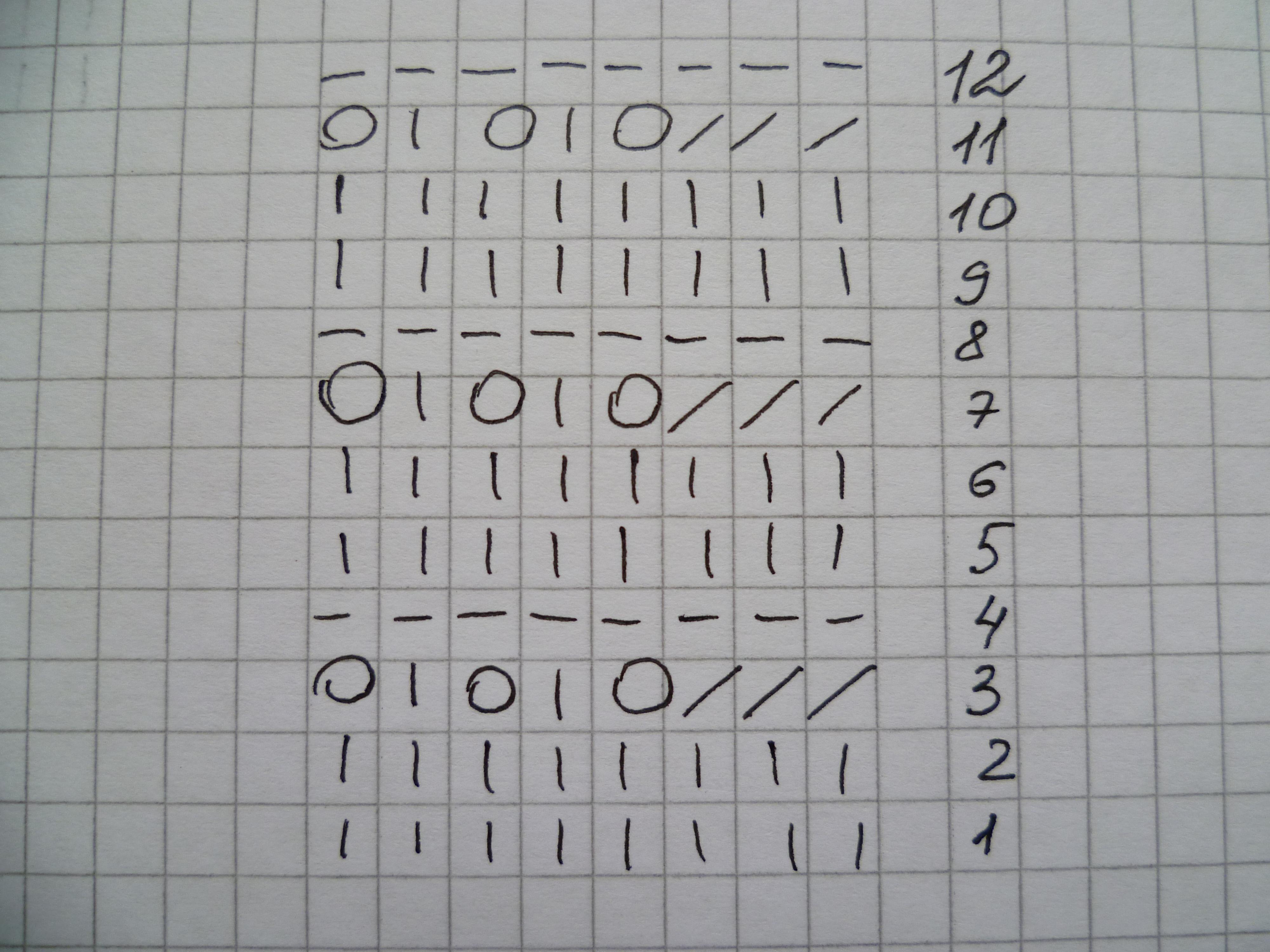 Схема вязания узора для платья барби