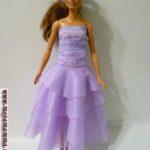 одежда без шитья для кукол. бальное платье без шитья.
