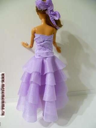 Вид сзади бального платья без шитья