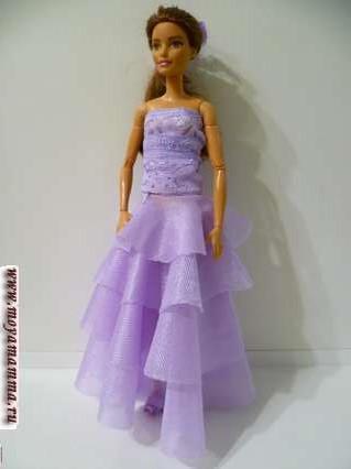 нарядная одежда без шитья для кукол