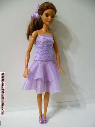 короткое бальное платье без шитья