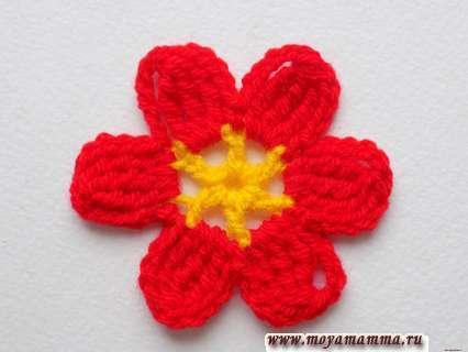 цветочек с шестью лепестками