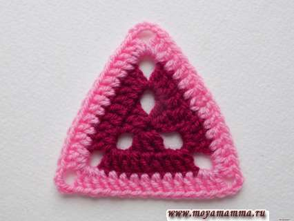 заготовка для треугольного мотива