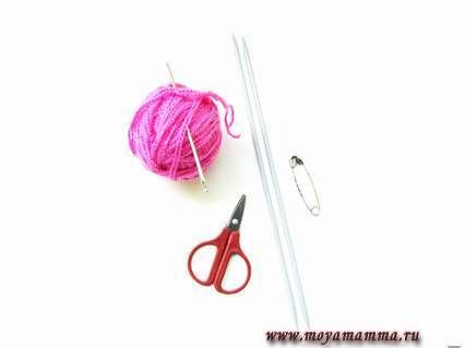 материалы для вязания рукавицы