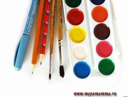 материалы для рисования шишки
