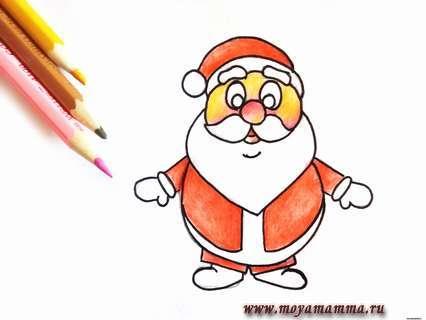 Создаем красивый и естественный оттенок кожи на лице Деда Мороза