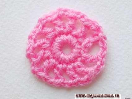 розовый круглый элемент