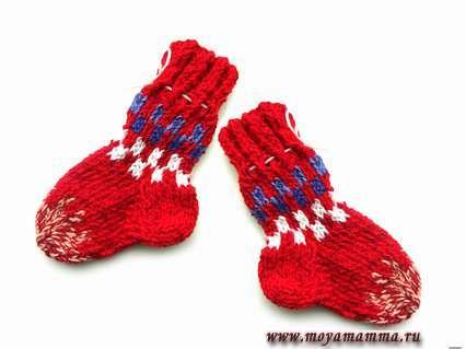 вяжем детские носки спицами