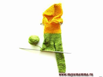 вязание штанин
