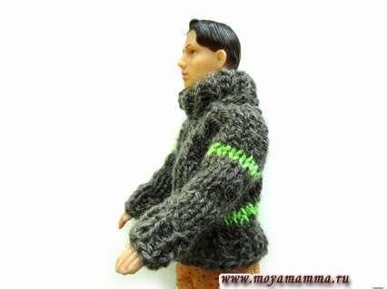 свитер для Кена связанный спицами
