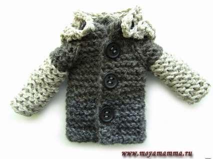 теплое мужское пальто серого цвета для Кена