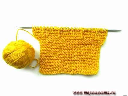 заготовка для вязания комбинезона спицами