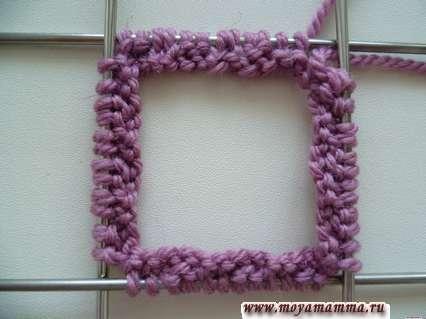 Начало вязания по кругу рукавички