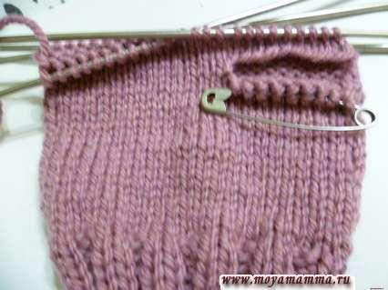 Вязание основного полотна рукавички