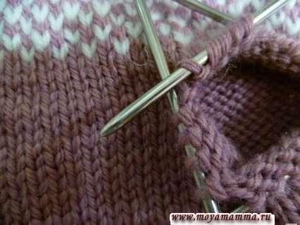 вязание пальца по кругу