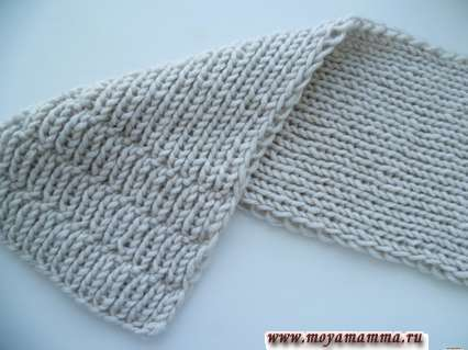 шарф из толстых ниток