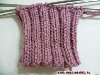 Вязание резинки для левой рукавички
