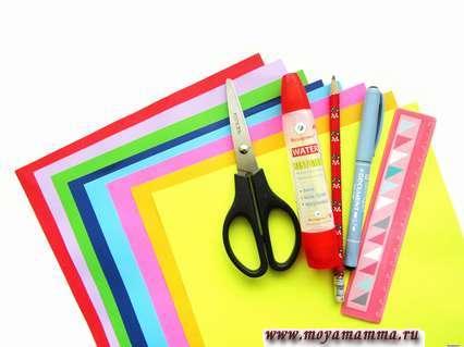 цветная бумага для изготовления открытки