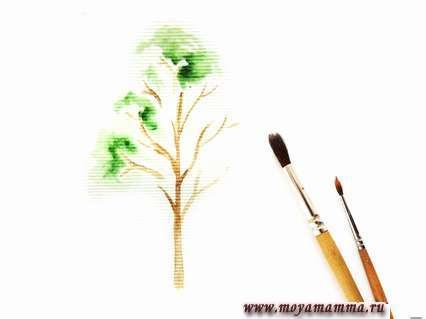 рисование листвы