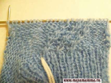 вязание клина для большого пальца