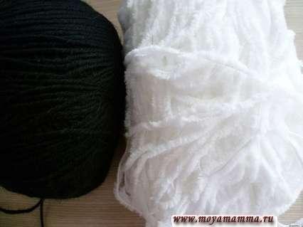 Пряжа для вязания кигуруми панда