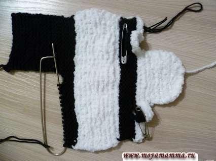 вязание штанин кигуруми