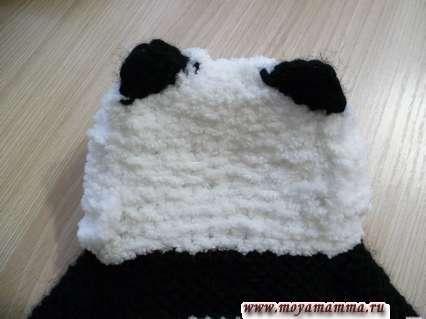 вид капюшона панда сзади