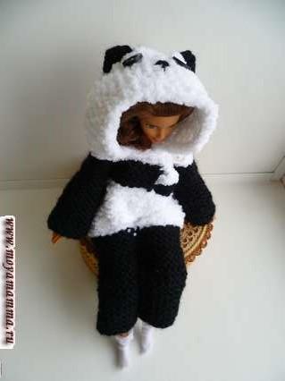 Кигуруми для барби «Панда»