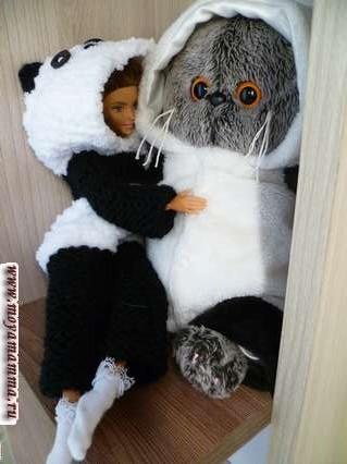 кигуруми для барби панда