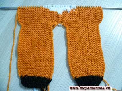 вязание на спицах костюма лиса
