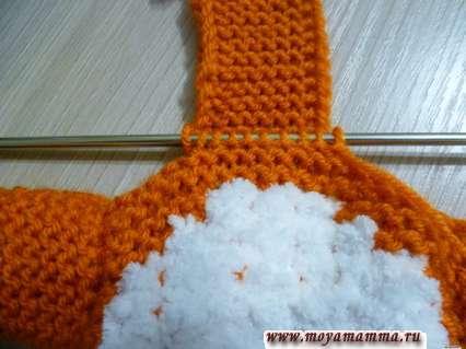 набор петель для вязания боковой части капюшона