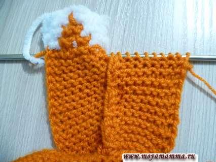 вязание боковой части капюшона