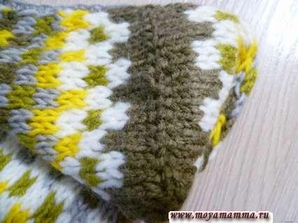 сшивание шва для пятки