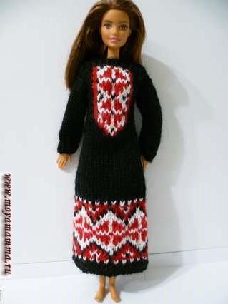 Платье орнаментом для барби