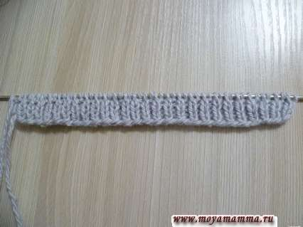 вязание резинки шапки для басика