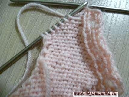 вязание горловины левой полочки