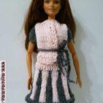 вязаная кофточка для куклы спицами