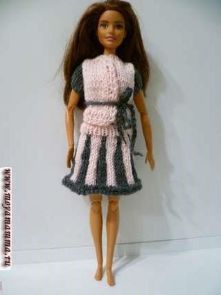 Двухцветная юбка для куклы