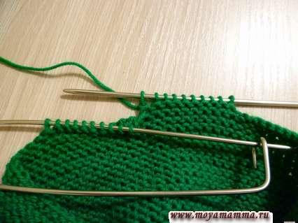 разделение петель для вязания лямок