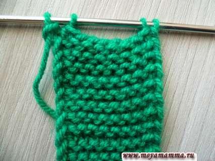 вязание отверстия для петли