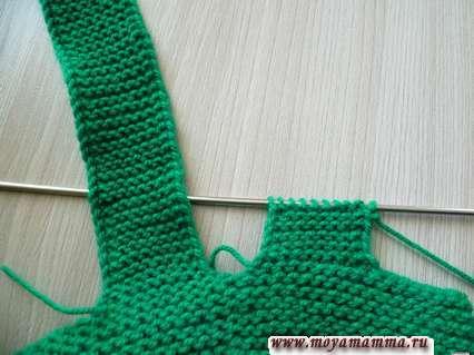 вязание второй лямки комбинезона