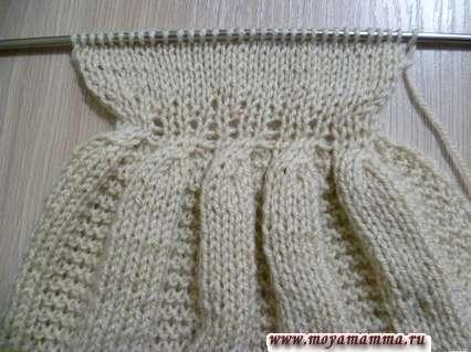 вязание лифа платья для барби