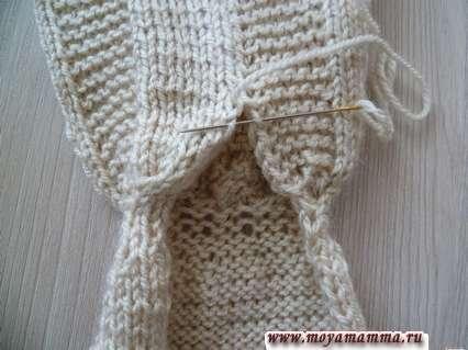 сшивание заднего шва платья