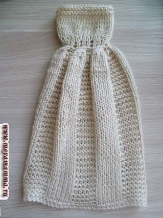 готовое к примерке вязаное бальное платье для барби