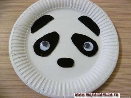 аппликации из фетра - Панда