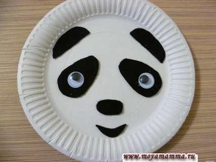 аппликация из фетра - Панда