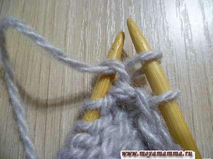 вязание скрещенной изнаночной петли